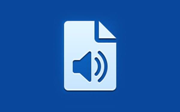 Icona dell'applicazione documenti audio